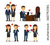 office romance or love affair... | Shutterstock .eps vector #360792581