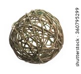 Wicker Ball Of Willow Branches...