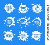 milk logo and labels designs...   Shutterstock .eps vector #360795515