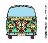 Vintage Car A Mini Van In...