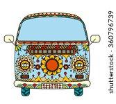 vintage car a mini van in... | Shutterstock .eps vector #360796739