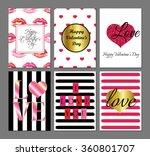 vector set of valentines day...   Shutterstock .eps vector #360801707