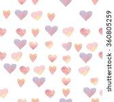 pattern of sweet watercolor... | Shutterstock . vector #360805259