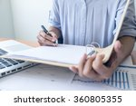 asia business woman analyzing... | Shutterstock . vector #360805355