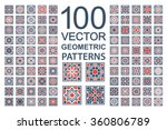 patterns with geometric... | Shutterstock .eps vector #360806789