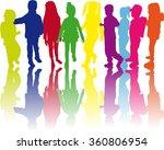 children silhouettes. | Shutterstock .eps vector #360806954