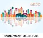 travel australia famous... | Shutterstock .eps vector #360811901