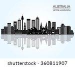 travel australia famous... | Shutterstock .eps vector #360811907