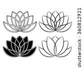 beautiful lotus flower line...