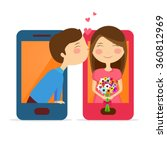 creative illustration of cute... | Shutterstock .eps vector #360812969