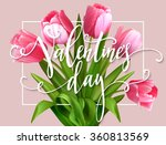 valentines day greeting card... | Shutterstock .eps vector #360813569