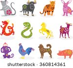 Chinese Zodiac Animals In Many...
