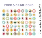 food   drink icon set. vector... | Shutterstock .eps vector #360814595