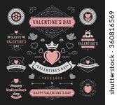 valentine's day labels and... | Shutterstock .eps vector #360816569