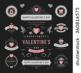 valentine's day labels and... | Shutterstock .eps vector #360816575