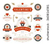 valentine's day labels and... | Shutterstock .eps vector #360816581