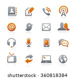 communications icons   ... | Shutterstock .eps vector #360818384