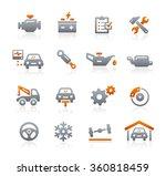 car service vector icons   ... | Shutterstock .eps vector #360818459