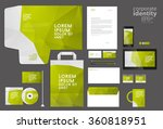 colorful corporate identity... | Shutterstock .eps vector #360818951