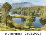 lake  trees and hills of 'tarn...