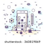 illustration in a flat linear... | Shutterstock .eps vector #360819869