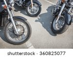 many motorcycles on parking on... | Shutterstock . vector #360825077