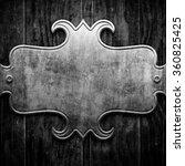 silver metal luxury plaque on... | Shutterstock . vector #360825425