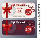 chinese new year gift voucher... | Shutterstock .eps vector #360827474