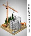 vector isometric illustration... | Shutterstock .eps vector #360827921