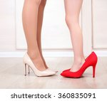 mother's and daughter's legs in ... | Shutterstock . vector #360835091