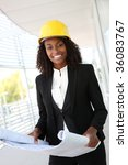 a young pretty woman working as ...   Shutterstock . vector #36083767