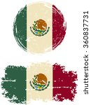 mexican round and square grunge ... | Shutterstock . vector #360837731