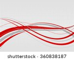 abstract wavy background. red... | Shutterstock .eps vector #360838187