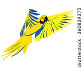bright flying parrot | Shutterstock .eps vector #360839375