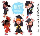 very happy kids. graduates in... | Shutterstock .eps vector #360840314