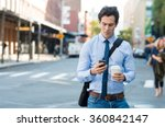 businessman using smartphone... | Shutterstock . vector #360842147
