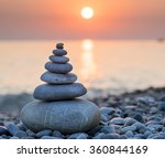 pyramid of stones for... | Shutterstock . vector #360844169