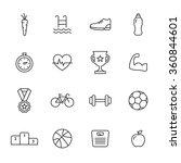 sport line icons | Shutterstock .eps vector #360844601