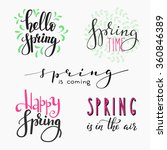 hello spring lettering...