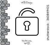 web line icon. padlock | Shutterstock .eps vector #360849431