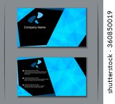 modern two sided visiting card  ... | Shutterstock .eps vector #360850019