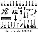 musical instruments vector | Shutterstock .eps vector #3608517