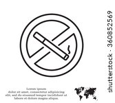 no smoking sign line icon ... | Shutterstock .eps vector #360852569