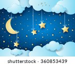 surreal night  fantasy... | Shutterstock .eps vector #360853439