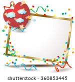 valentine signboard with... | Shutterstock .eps vector #360853445