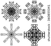 circle lace pattern  black and... | Shutterstock . vector #360855341