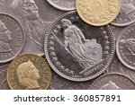 different coins of swiss franc   Shutterstock . vector #360857891