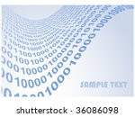 abstract binary code waves... | Shutterstock .eps vector #36086098