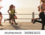 young woman running with... | Shutterstock . vector #360862631