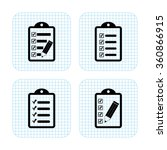 checklist    vector icon  set | Shutterstock .eps vector #360866915